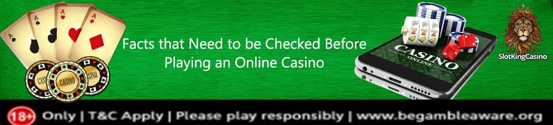 Facts that need to be checked before playing an online casino